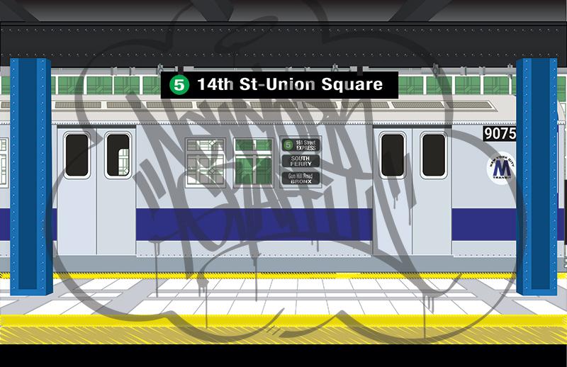 14th-Street-Station-Silver-R33